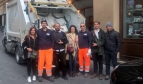 Rubbish collectors in Siena