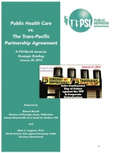 Public health care vs the TPP agreement