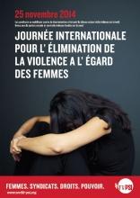 La journée internationale pour l'élimination de la violence à l'égard des femmes