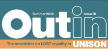 Out in: UNISON newsletter on LGBT issues