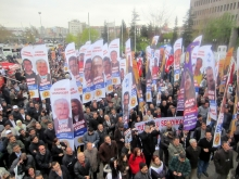 KESK rally outside Ankara criminal court - April 2012