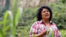 la líder indígena Berta Cáceres