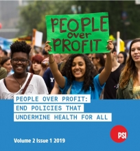 Coverpage of PSI Right to Health quarterly