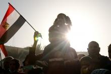 Demonstrators in Egypt