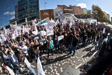 Movilización en Argentina