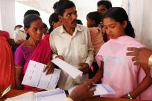 Inscription à l'assurance santé en Inde.