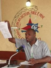 Nouveau secrétaire général de la CTSP Jean Fatal