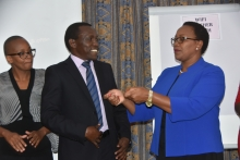 Sicily Kariuk, Cabinet Secretary for Health and James Wambugu, Chair of the panel of experts.