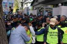 Police intervention prior to KGEU sit-in