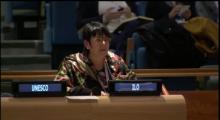Rosa Pavanelli addressing UN High-level panel discussion