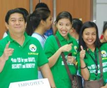 El personal sanitario de St Luke's Medical Center (Global City) votando y ejerciendo su derecho a la libertad de asociación