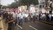 Perú: Paro Nacional el 22 y 23 de abril de 2014