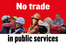 The dangers of liberalising services - forum flyer image