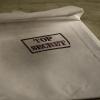 enveloppe blanche avec tampon Top Secret