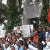 Union protestors in Tunis