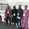 La délégation de l'ISP au Sommet Africités 2018 (de droite à gauche) : la Secrétaire sous-régionale pour l'Afrique anglophone, Everline Aketch (ISP Nairobi), le Coordinateur Justice fiscale, Daniel Oberko (ISP Lomé), Fatou Diouf (SATSE, Sénégal) et S.E. Roba Duba (Secrétaire général du KCGWU, Kenya)