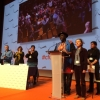 Baba Aye gives his speech at the CFDT Santé Sociaux congress in Vannes