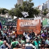Health professionals in Argentina demonstrate against budget cuts in the health service.