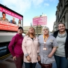 GMB members (left to right) Gillian Docherty, Eileen Dougall, Shona Thomson and Lee-Ann Dougall (Jane Barlow/PA)