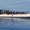 migrant refugees near Lampedusa, Italy