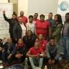 Jóvenes trabajadores en la Conferencia de la ISP sobre el seguro nacional de salud popular.