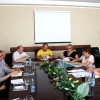 Participants from Ukrainian unions FPU and HWUU met the AFL-CIO representative