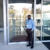 Sherif Olanrewaju at the WHO entrance